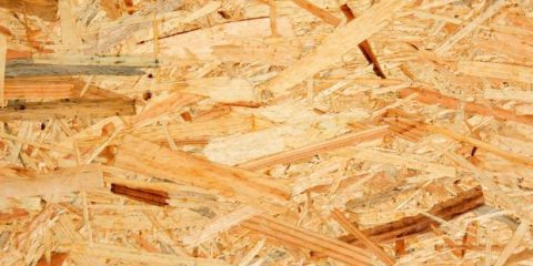 Surface of an OSB board