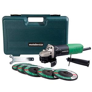 Metabo HPT Angle Grinder, 4 12, Includes 5 Grinding Wheels & Hard Case, 6.2 Amp Motor, Compact & Lightweight, 5 Year Warranty, G12SR4