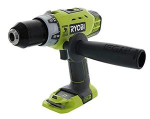 Ryobi P214 One+ 18 Volt Lithium Ion 12 Inch 600 Pound Torque Hammer DrillDriver (Tool Only) with Handle (Non Retail Packaging)