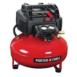 PORTER CABLE Air Compressor, 6 Gallon, Pancake, Oil Free (C2002)